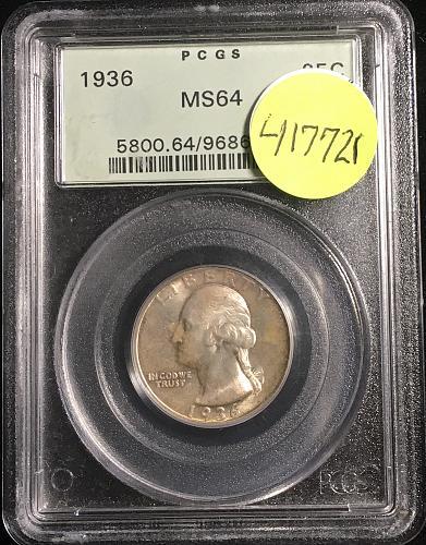 1936 Washington Quarter PCGS64