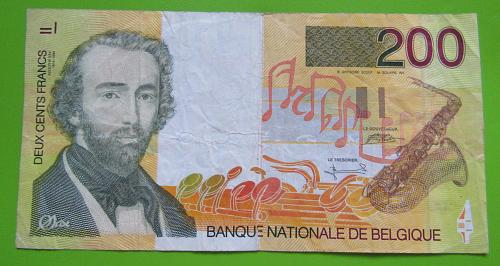 1995 Belgium 200 Francs Banknote