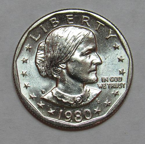 1980 D Susan B Anthony Dollar in BU condition