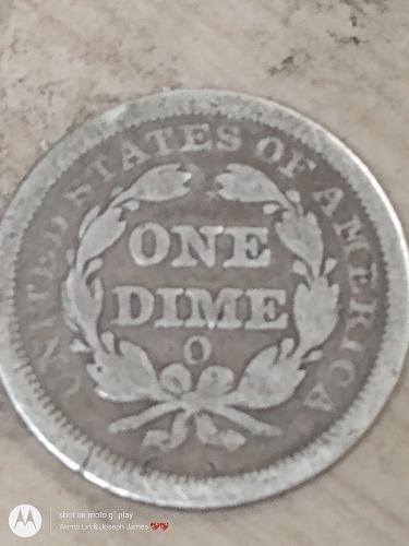 Liberty seated Dime O mint mark