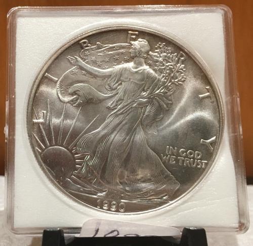 1990 American Silver Eagle BU 1 oz US $1 Dollar U.S. Uncirculated