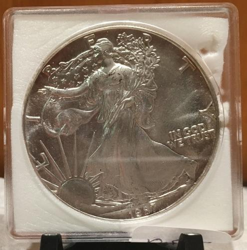 1987 American Silver Eagle BU 1 oz US $1 Dollar U.S. Uncirculated
