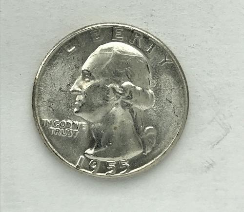 1955 Uncirculated Washington Quarter --90% Silver (917-3)