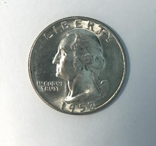 1953 D Uncirculated Washington Quarter --90% Silver (918-2)