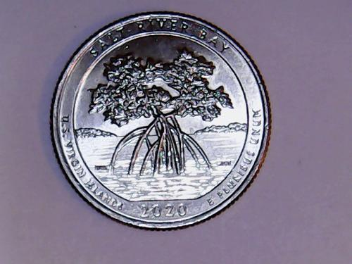 2020 P Salt River Bay America The Beautiful Quarter  From Bank Roll See Pictures