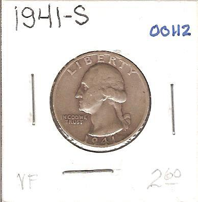 1941-S Washington Quarter
