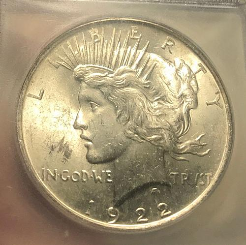 1922 Peace Dollars : Normal Relief Early Silver Dollars  GEM Luster (4 photos)