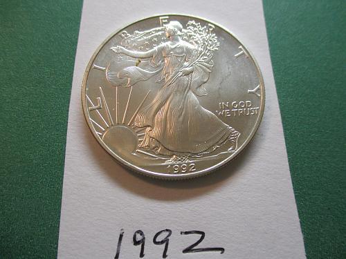 1992 American Silver Eagle.  Item: E 92.