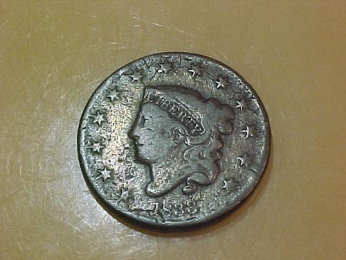 1833 LARGE CENT MATRON HEAD       ab48