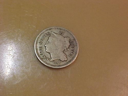 1868 3 CENT NICKEL       ab56