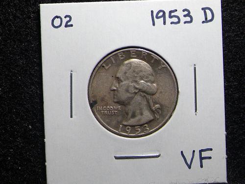 1953 D Washington Quarter