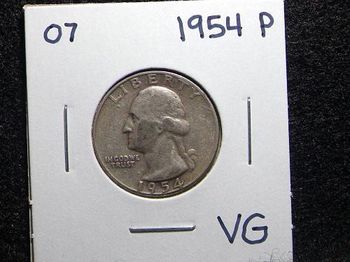 1954 P Washington Quarter