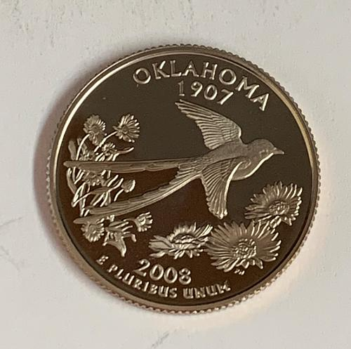 2008-S Oklahoma State Proof Quarter  [BSWQ 354]