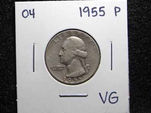 1955 P Washington Quarter