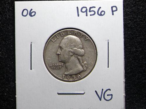 1956 P Washington Quarter