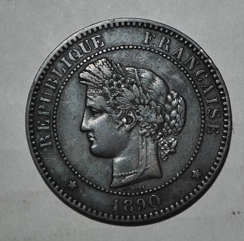FRANCE 10 CENTIMES 1890 A (6247)