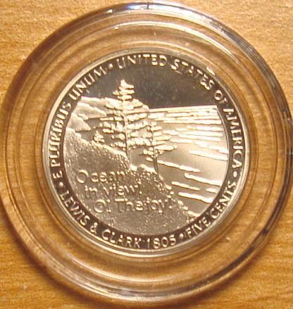 2005 S Jefferson Nickel Proof Ocean In View