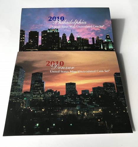 2010 P & D US Uncirculated Mint Set (no box) (925-3)