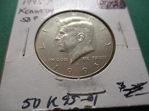 1995  Uncirculated Kennedy Half Dollar.  Item: 50 K95-01.