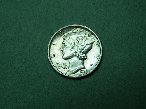 1938 D Mercury Dime Uncirculated Coin   x24