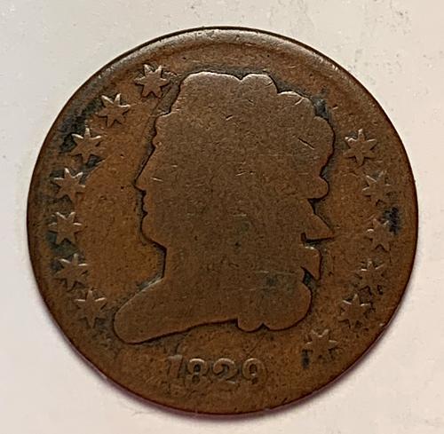 1829 Classic Half Cent. G4 [HC1]