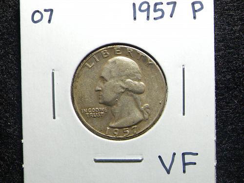 1957 P Washington Quarter