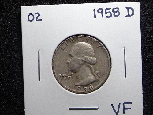 1958 D Washington Quarter