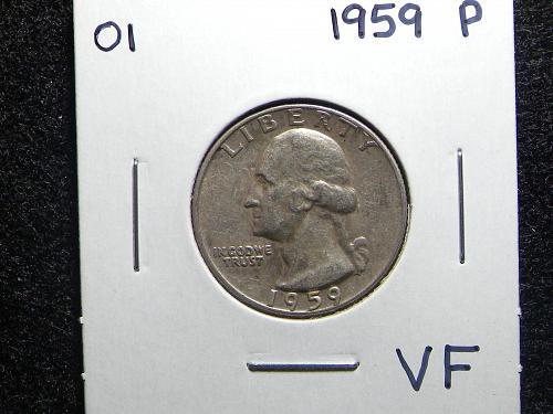 1959 P Washington Quarter