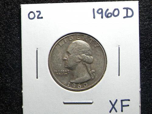 1960 D Washington Quarter