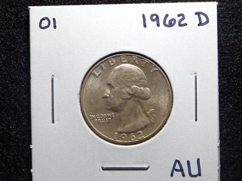 1962 D Washington Quarter