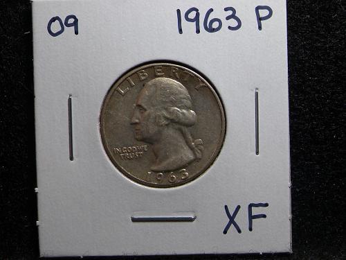 1963 P Washington Quarter