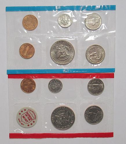 1972 PDS Uncirculated Mint Set with no Eisenhower Dollar