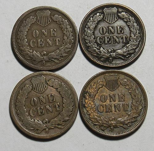 1905-1908 P Indian Head Cents in circulated condition