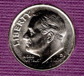 2004 D Roosevelt Dimes  -#4