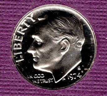 1974 S Proof Roosevelt Dimes -#4
