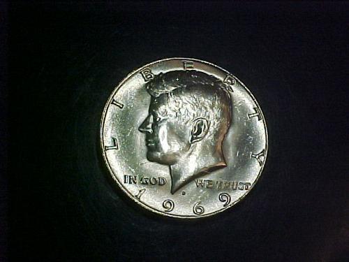 1969 D KENNEDY HALF DOLLAR       ab91