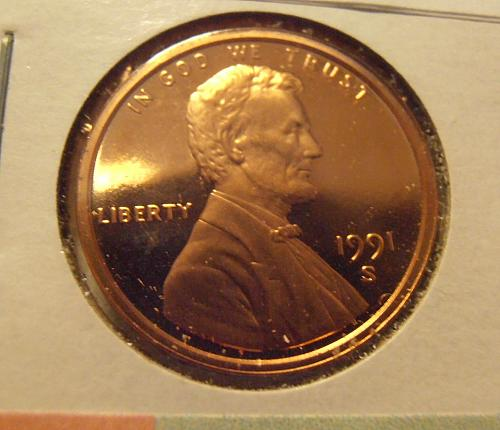 1991 S DCAM Lincoln Cent, (1991S DCAM-1)