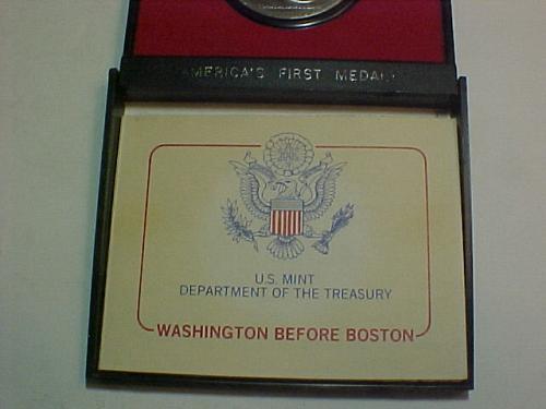 WASHINGTON BEFORE BOSTON AMERICA'S FIRST MEDALS  AMERICA'S BICENTENNIAL 1776-197