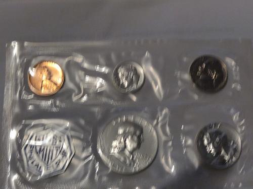 1963 Mint Proof Full set with U.S Mint badge