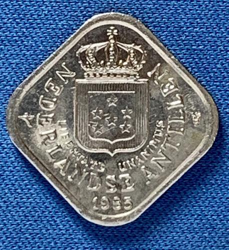 1995 Netherlands Antilles 5 cent gulden