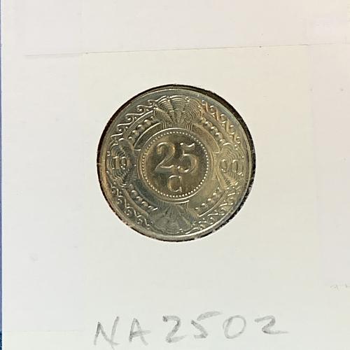 1990 Netherlands Antilles 25 cent Gulden