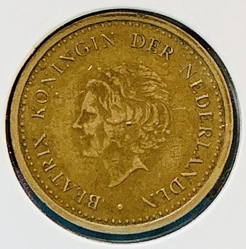 1992 Netherlands Antilles  1  Gulden Coin