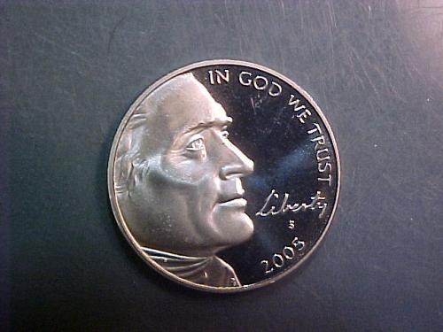 2005 S JEFFERSON NICKEL BISON   ab97