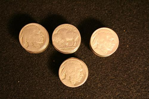 Buffalo Nickels 43 Coins read details 1928,30,35,36,37
