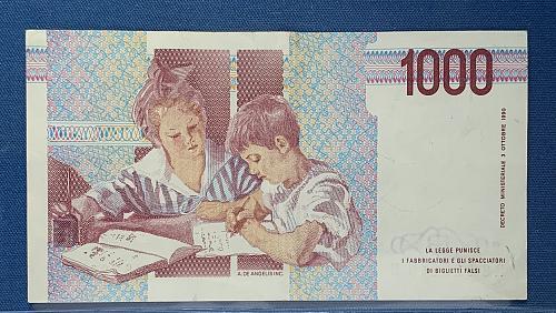 1990 1000 lire Italian Note