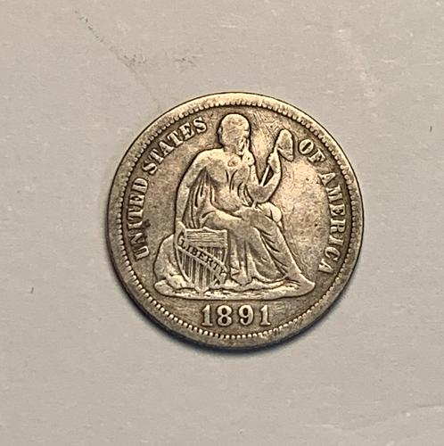 1891 Seated Dime VF  [SD4]