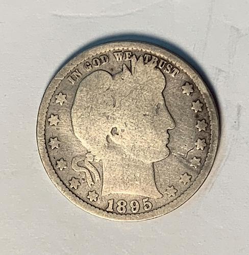 1895 Barber Quarter [BSWQ8]
