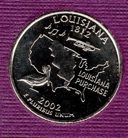 2002 P Louisiana 50 States and Territories Quarters - #3