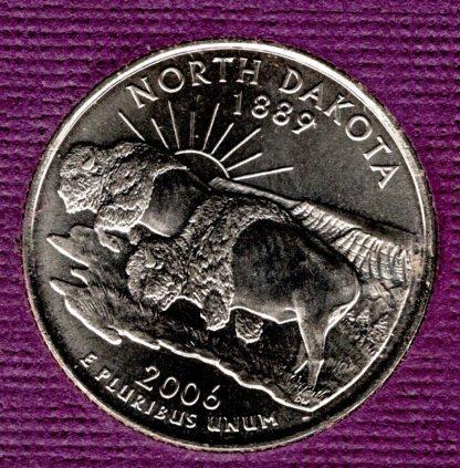 2006 D North Dakota 50 States and Territories Quarters -#4