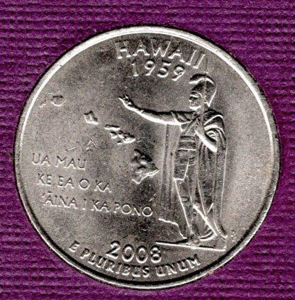 2008 D Hawaii 50 States and Territories Quarters -#3